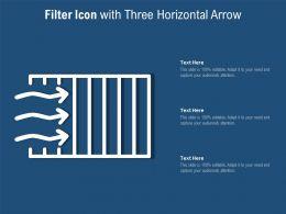 Filter Icon With Three Horizontal Arrow