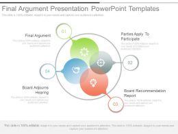 Final Argument Presentation Powerpoint Templates