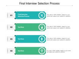 Final Interview Selection Proces Ppt Powerpoint Presentation Portfolio File Formats Cpb
