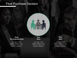 Final Purchase Decision Ppt Powerpoint Presentation Infographics Graphics Template Cpb