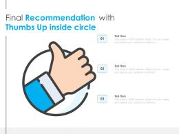 Final Recommendation With Thumbs Up Inside Circle
