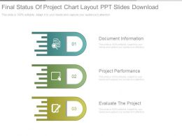 Final Status Of Project Chart Layout Ppt Slides Download