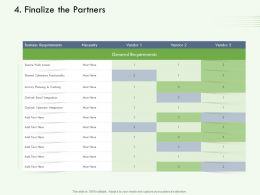 Finalize The Partners M3122 Ppt Powerpoint Presentation Gallery Vector Ppt Powerpoint File Icon
