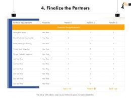 Finalize The Partners Outlook Calendar Ppt Powerpoint Presentation Show Demonstration