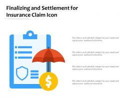 Finalizing And Settlement For Insurance Claim Icon
