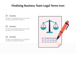 Finalizing Business Team Legal Terms Icon