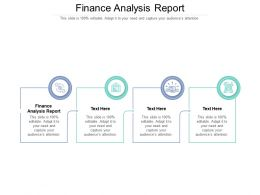 Finance Analysis Report Ppt Powerpoint Presentation Slides Example Topics Cpb