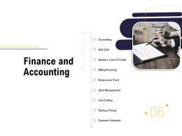 Finance And Accounting Business Process Analysis Ppt Template