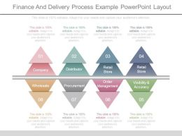 Finance And Delivery Process Example Powerpoint Layout