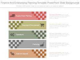 Finance And Enterprising Planning Template Powerpoint Slide Backgrounds