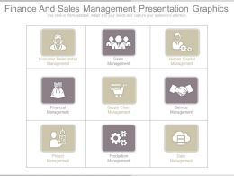 Finance And Sales Management Presentation Graphics