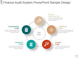 Finance Audit System Powerpoint Sample Design