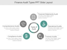 Finance Audit Types Ppt Slide Layout