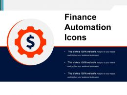 Finance Automation Icons Powerpoint Slide Ideas