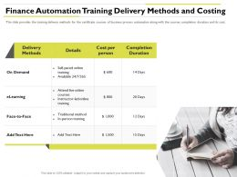 Finance Automation Training Delivery Live Online Ppt Powerpoint Presentation Rules
