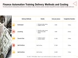 Finance Automation Training Delivery Traditional Method Ppt Presentation Icon