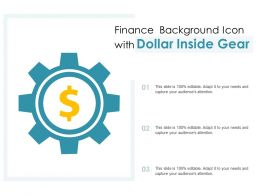 Finance Background Icon With Dollar Inside Gear