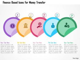 Finance Based Icons For Money Transfer Flat Powerpoint Design