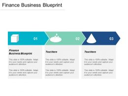 Finance Business Blueprint Ppt Powerpoint Presentation Layouts Slides Cpb