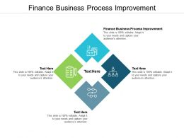 Finance Business Process Improvement Ppt Powerpoint Presentation Good Cpb