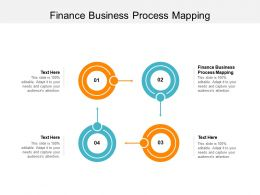 Finance Business Process Mapping Ppt Powerpoint Presentation Slides File Formats Cpb