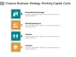 Finance Business Strategy Working Capital Cycle Ecommerce Process Cpb
