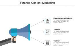 Finance Content Marketing Ppt Powerpoint Presentation Ideas Cpb