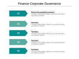 Finance Corporate Governance Ppt Powerpoint Presentation Ideas Portfolio Cpb