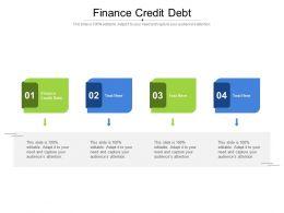Finance Credit Debt Ppt Powerpoint Presentation Outline Elements Cpb