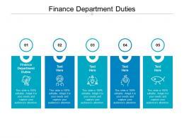 Finance Department Duties Ppt Powerpoint Presentation Slides Portfolio Cpb