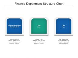 Finance Department Structure Chart Ppt Powerpoint Presentation Outline Brochure Cpb