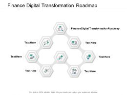 Finance Digital Transformation Roadmap Ppt Powerpoint Presentation Portfolio Cpb