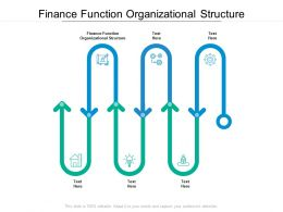Finance Function Organizational Structure Ppt Powerpoint Presentation Aids Cpb