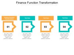 Finance Function Transformation Ppt Powerpoint Presentation File Objects Cpb