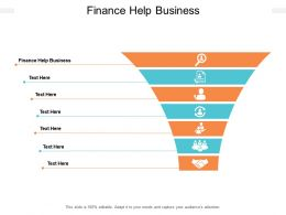 Finance Help Business Ppt Powerpoint Presentation Outline Examples Cpb