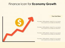 Finance Icon For Economy Growth