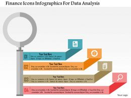 Finance Icons Infographics For Data Analysis Flat Powerpoint Design