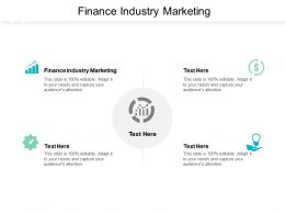 Finance Industry Marketing Ppt Powerpoint Presentation Guide Cpb