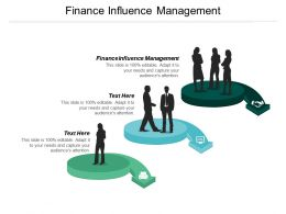 Finance Influence Management Ppt Powerpoint Presentation File Model Cpb