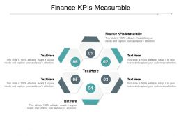 Finance KPIs Measurable Ppt Powerpoint Presentation Infographics Example File Cpb