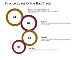 Finance Loans Online Bad Credit Ppt Powerpoint Presentation Infographic Template Slide Portrait Cpb