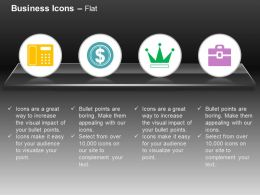 Finance Machine Dollar No 1 Quality Briefcase Ppt Icons Graphics
