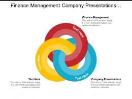 Finance Management Company Presentations Strategic Plan Working Environment