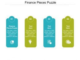 Finance Pieces Puzzle Ppt Powerpoint Presentation Show Graphics Cpb