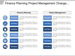 Finance Planning Project Management Change Management Performance Improvement