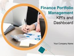 Finance Portfolio Management KPIs And Dashboard Powerpoint Presentation Slides