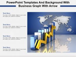Finance Powerpoint Templates And Background With Business Graph With Arrow