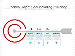 Finance Project Goal Including Efficiency