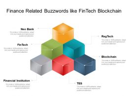 Finance Related Buzzwords Like Fintech Blockchain