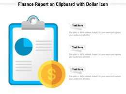 Finance Report On Clipboard With Dollar Icon